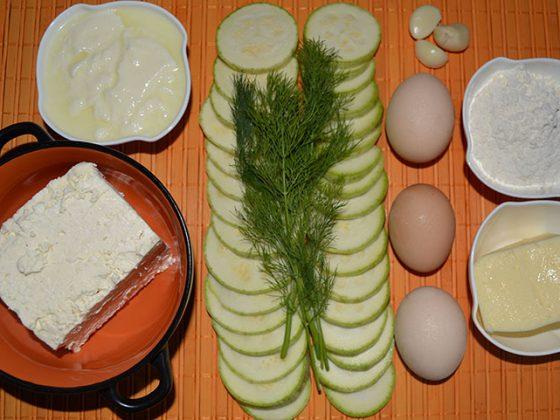 Какво е необходимо за приготвянето на тиквички със сирене на фурна