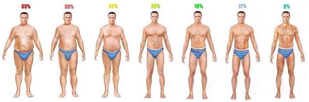 Телесни мазнини при мъжете