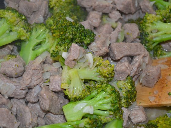 телешко с броколи и джинджифил