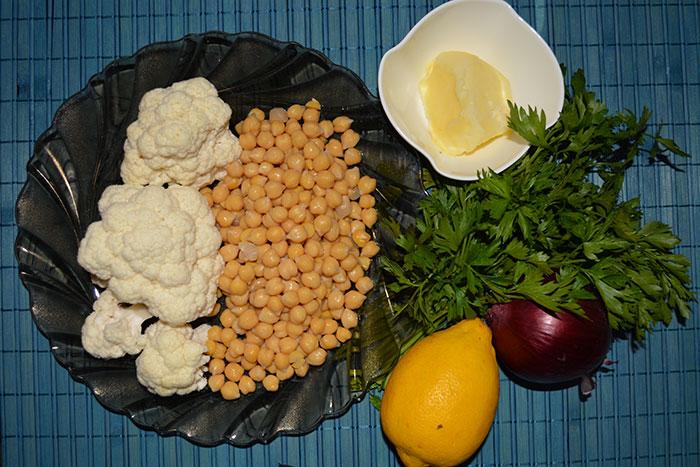салата от нахут и карфиол