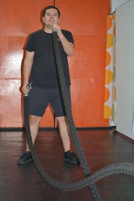 Любомир се привърза силно към въжето :)