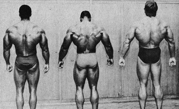 От ляво на дясно - Серж Нюрбре, Серджо Олива, Арнолд Шварценегер