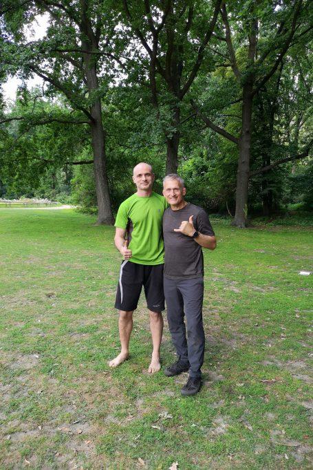 със Стив Максуел в Берлин