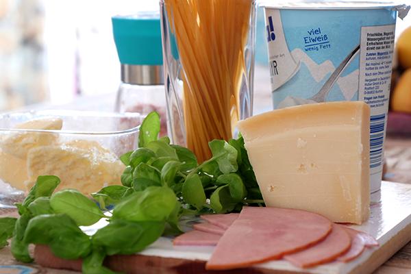 Необходимите продукти за тези вкусни спагети с много протеин и малко мазнини
